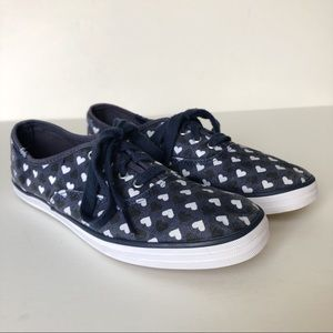 Taylor Swift for Keds Blue w/ Hearts Size 7.5